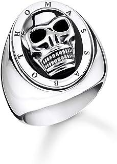 THOMAS SABO 中性戒指 骷髅头 925 纯银,黑 TR2213-698-11