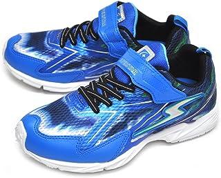 [スーパースター] 運動靴 通学履き バネのチカラ パワーバネ 白底 バネ 軽量 イナズマスプリンター SS J819WS ブルー