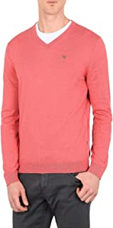 RED SWEATER IN STRETCH COTTON, Hombre.