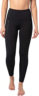 High Waist Squat-Proof Ankle Length Leggings with Front Zipper Pockets