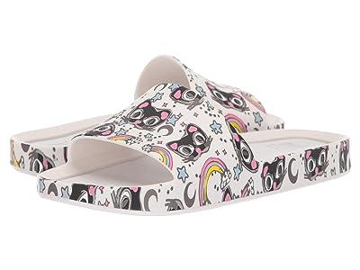 Mini Melissa Mel Beach Slide 3B II (Little Kid) (White/Black) Girls Shoes