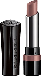 Rimmel The Only One Lipstick, Naughty Nude, 0.130 Ounce, Moisturizing Long-Lasting Rich Lip Color, Slanted Tip Easy Application