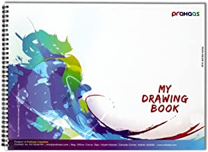 Prahaas Drawing Book With Butter Paper Blue, 15 X 11 Inches