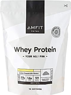 Marque Amazon - Amfit Nutrition Protéines de Lactosérum, Saveur Cheesecake au Citron, 2.27 kg