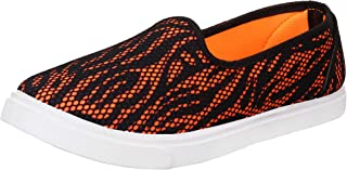 2ROW Women's Mesh Orange Loafers