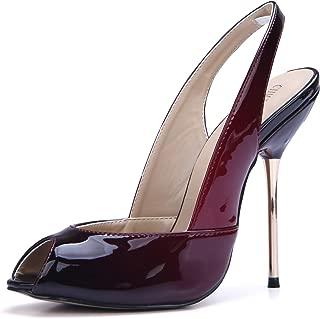 Women Dress Pumps Sexy Stiletto High Heels Peep Toe Sling Back Ladies Shoes