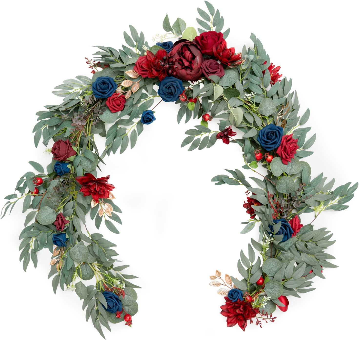 Ling's moment Ranking TOP3 Artificial Eucalyptus Garland NEW Flowers We with 6FT