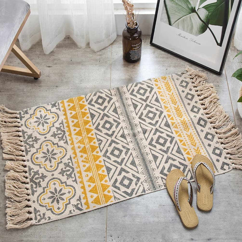 Buy Aztec Boho Bathroom Rug Woven Southwest Geometric Printed ...