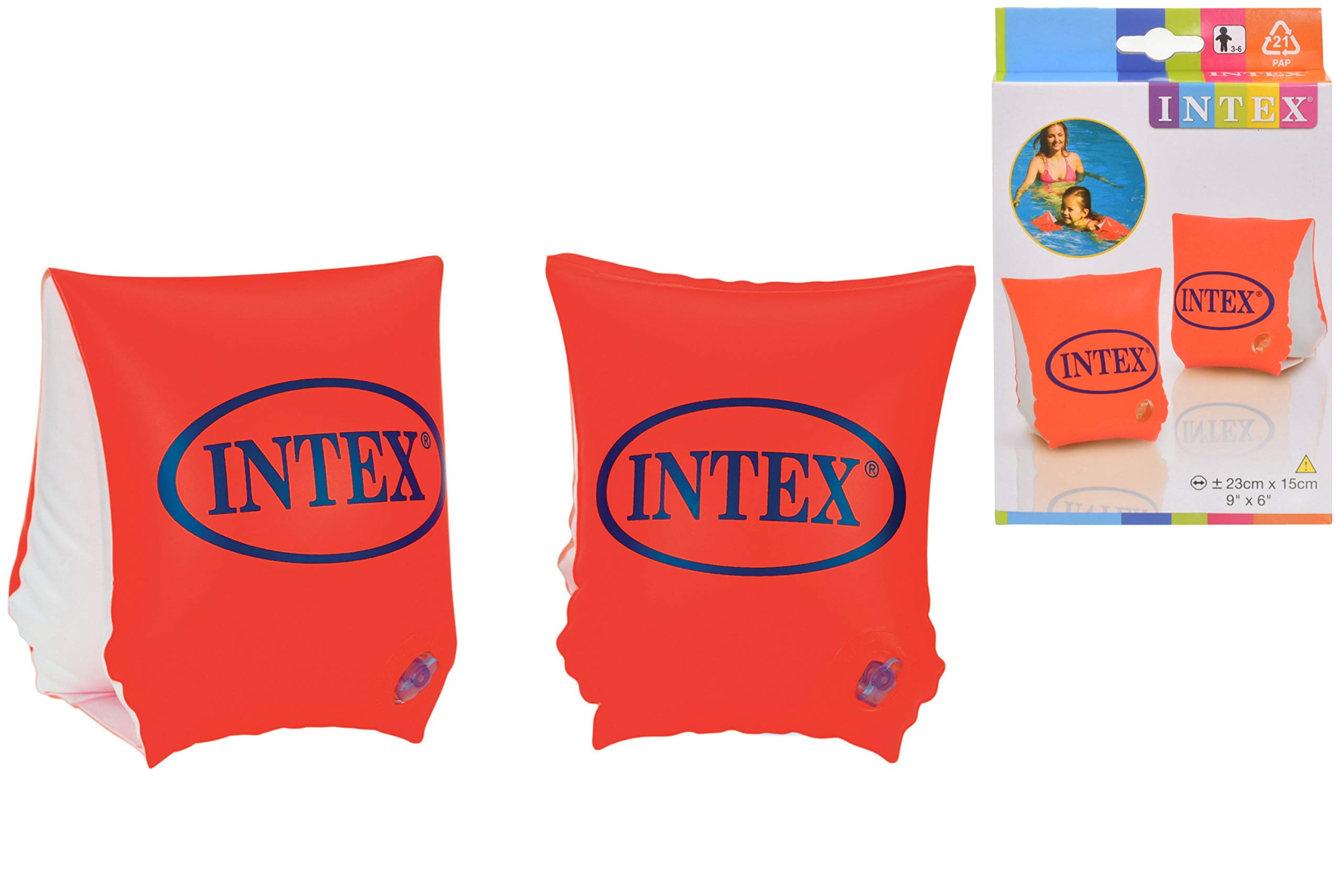 Lot Of 2 Intex Children/'s Swim Aid Water Wings Orange Arm Bands for Ages 6 to 12