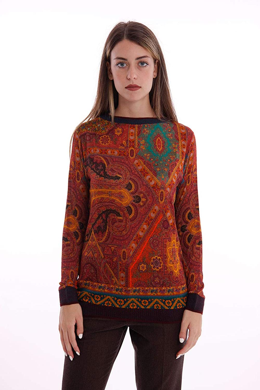 Etro RED Paisley Sweater, Womens.