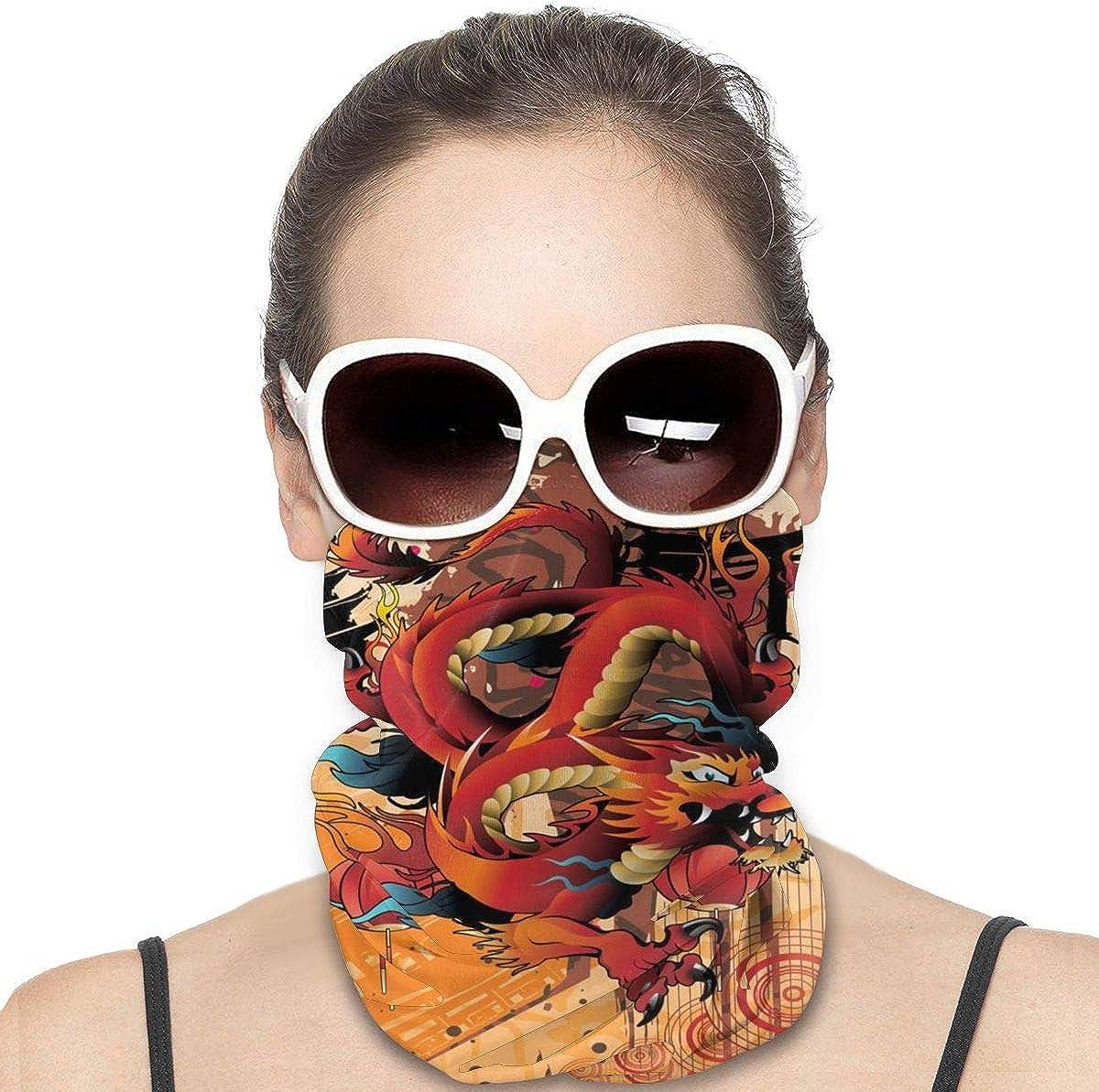 Tidyki Bandana Face Mask - Dragon Asian Japanese Chinese Culture Motorcycle Mask Bandana Face Mask Multifunctional Headwear Head Bands Sport Mask Headbands Face Mask Bandana