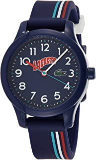 Lacoste Unisex-Child Blue Dial Multiple Color Silicone Watch - 2030028