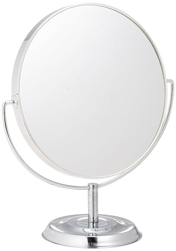 狂気最もポールメリー 片面約5倍拡大鏡付両面鏡卓上ミラー シルバー No.5880