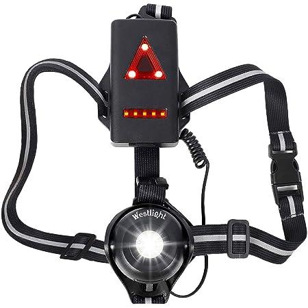 Laufen Jogging LED Nacht Im Freien Brust Lampe Warnung Flash Lichter P7X7