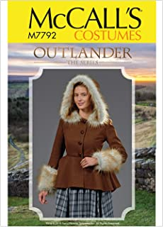 McCall's Patterns M7792A5 Women's Outlander Coat Halloween and Cosplay Costume Sewing Pattern, Sizes 6-14