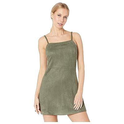 Jack by BB Dakota Fair Square Faux Suede Dress (Bettle Green) Women