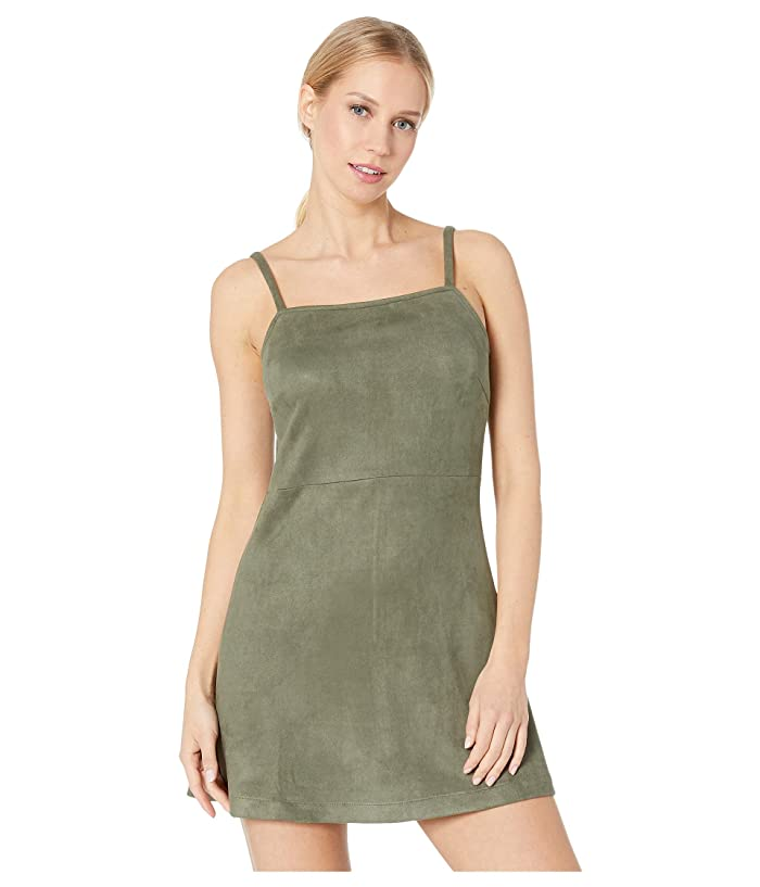 Jack by BB Dakota Fair Square Faux Suede Dress (Bettle Green) Women