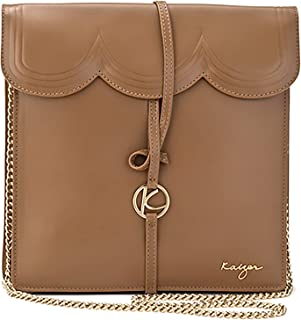 Kaizer KZ2206BR Leather crossbody Bag for Women - Brown