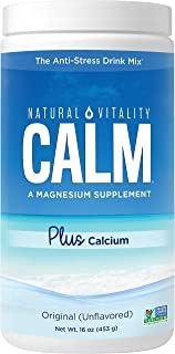Natural Vitality Calm #1 Selling Magnesium Citrate PLUS Calcium, Anti-Stress Magnesium Supplement Drink Mix, Unflvored, Ve...