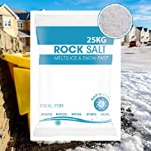 Hadley 25KG Bag White De-Icing Rock Salt for Keeping Driveways and Paths Clear of Ice & Snow