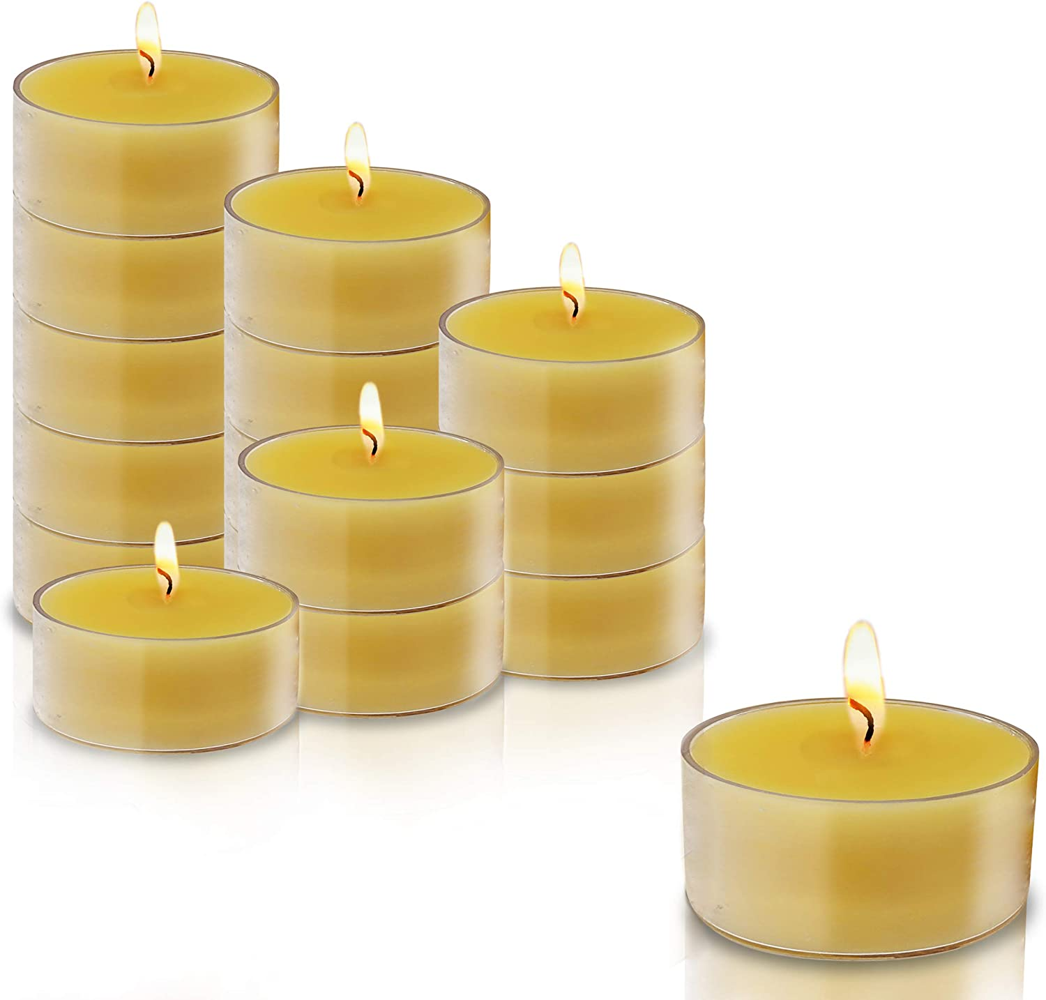 Ner Mitzvah Pure Beeswax Tealight Candles 24 2021new shipping free shipping P - Handmade USA List price in