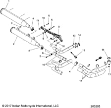 Indian Motorcycle Sealing Exhaust Gasket,Genuine OEM Part5246008, Qty 1