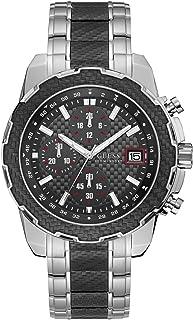 ساعة يد بعقارب عصرية من الستانلس ستيل للرجال من جيس - W1046G1