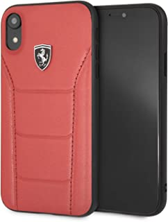 CG Mobile Ferrari Heritage - 488 Genuine Leather Hard Case for iPhone Xr (Red)