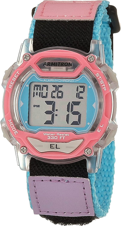 Armitron Sport Unisex Excellence Digital Chronograph 45 Watch Max 55% OFF Nylon Strap