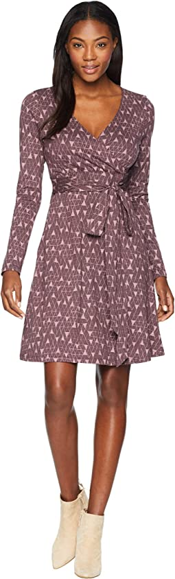 Cue Wrap Long Sleeve Dress