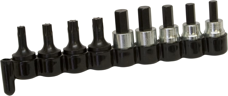 Lisle 29150 10 Piece 3//8 Drive Brake Caliper Socket Bit Set