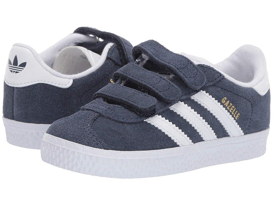 adidas Originals Kids Gazelle I (Toddler) (Navy/White) Boys Shoes
