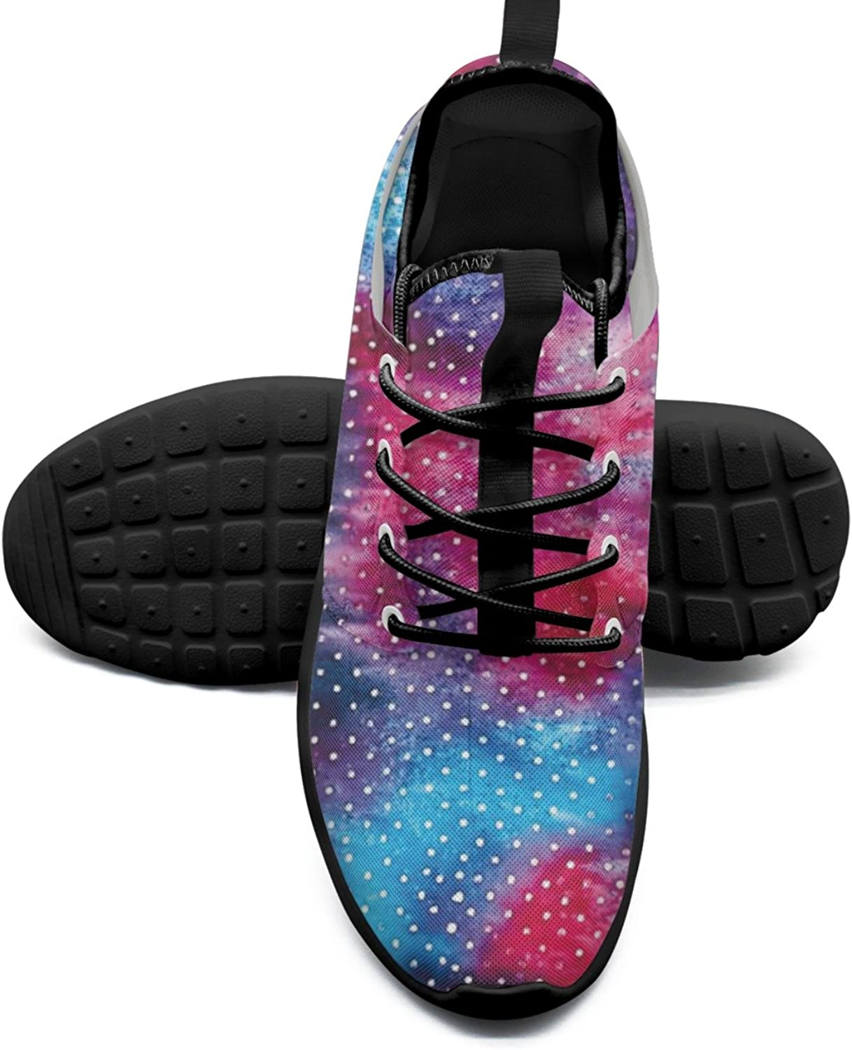 Women's Fashion Lightweight Sneakers Abstract colorful Mini Dots Retro Basketball shoes