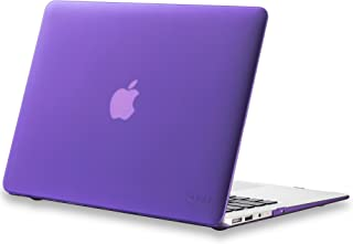 Kuzy MacBook Air 13 inch Case A1466 A1369 Soft Touch Cover for Older Version 2017, 2016, 2015 Hard Shell - Purple