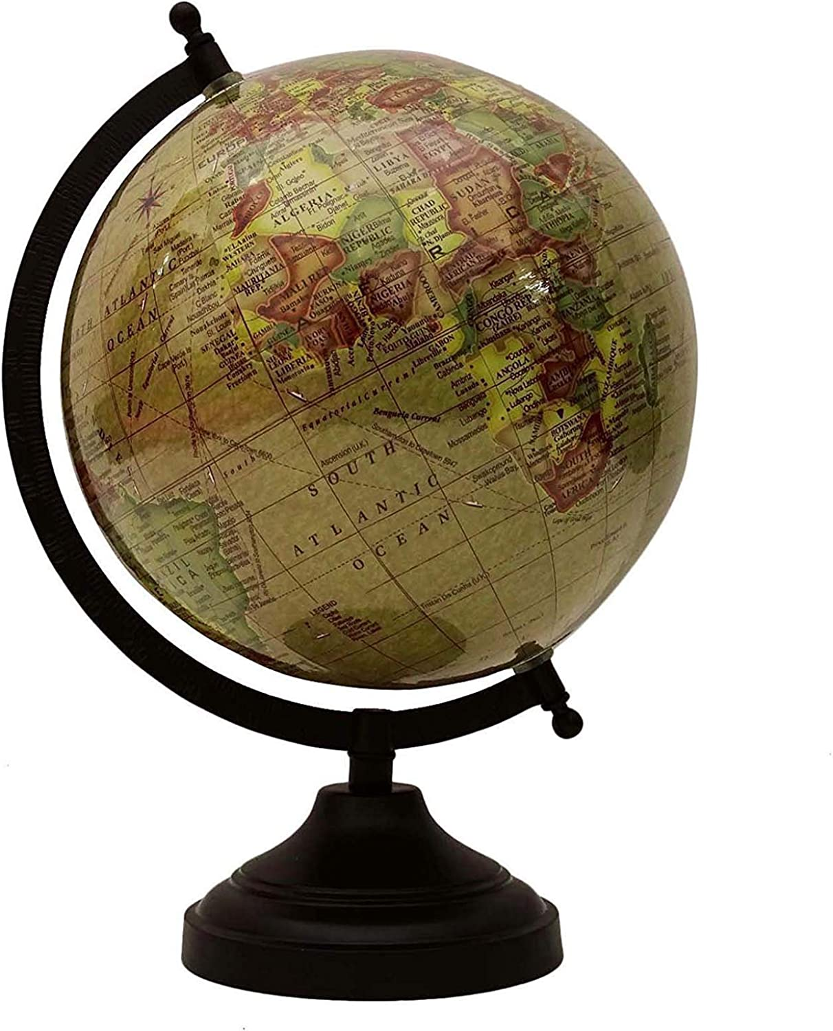 12  Desktop redating Beige Ocean Globe World Earth Geography Gift Table Decor by Globes HubPerfect for Home, Office & Classroom