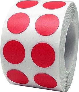 Rojas Pegatinas Circulares, 13 mm 1/2 Pulgadas Etiquetas de Puntos 1000 Paquete