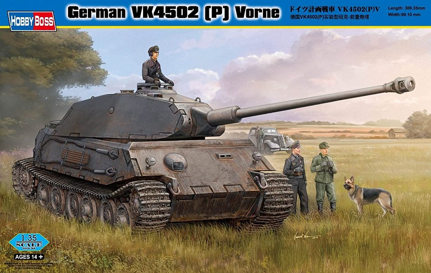Hobby Boss German VK4502 (P) Vorne Vehicle Model Building Kit