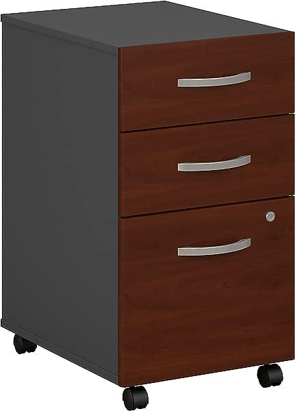 Bush Business Furniture Series C 3 Drawer Mobile File Cabinet In Hansen Cherry