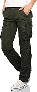 Womens Ladies Army Combat Cargo 100% Cotton Military Trousers Pants