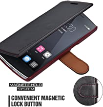 OnePlus One Case Wallet - Mulbess [Layered Dandy][Black] - [Slim][Wallet Case] - Premium Leather Flip Case With Credit Card Slot for OnePlus One