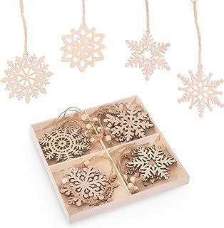 Adornos Navideños de Madera, Colgantes de Madera para Navidad, Ornamentos de Navidad para el Hogar, Fiesta, Festival, Deco...