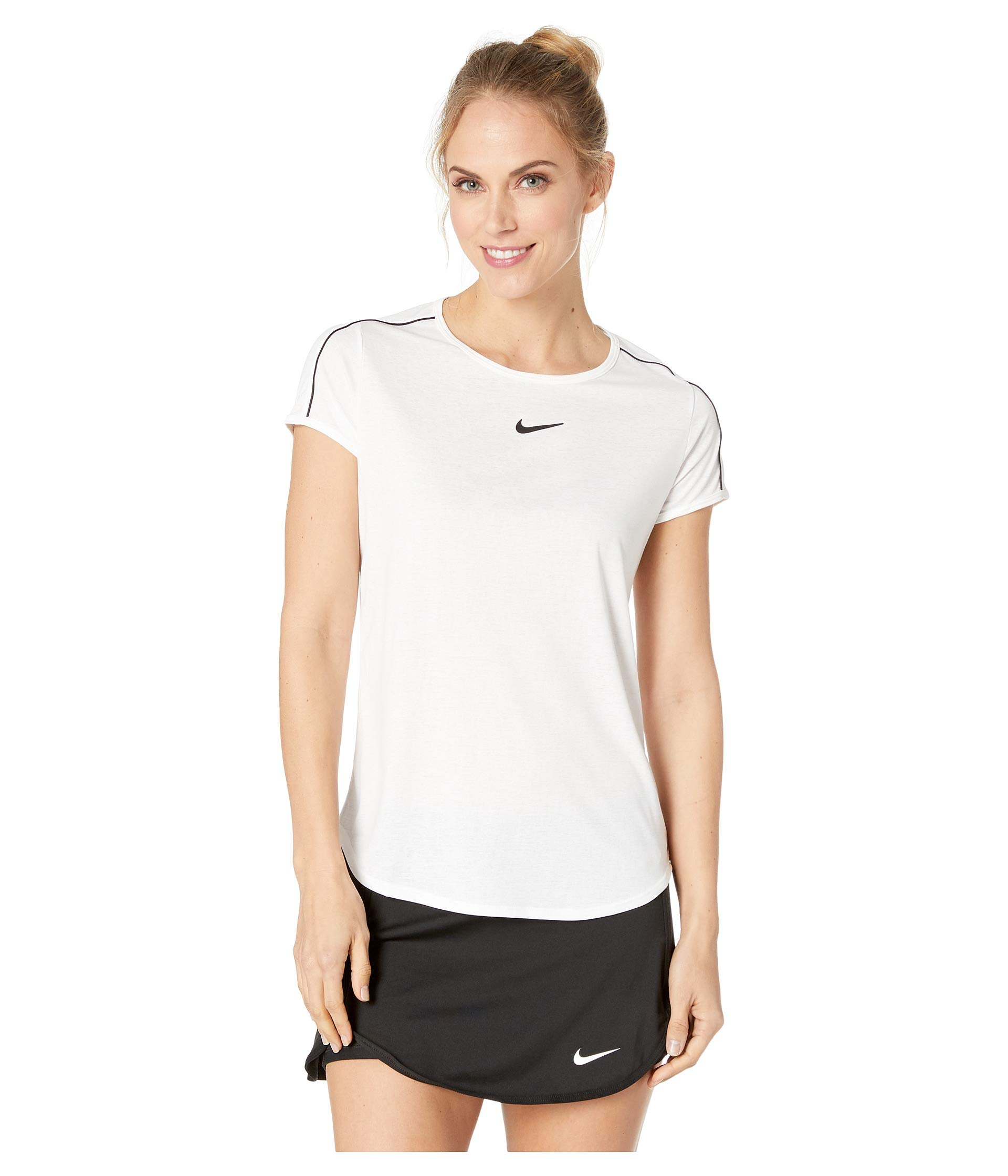 black black White white Nike Court Top Dry qXUB1w