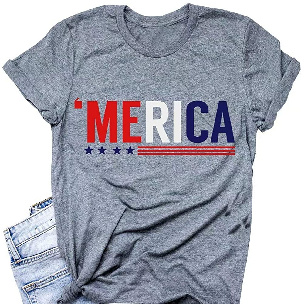 Funny Cute American Flag Tee Shirts Women USA In a popularity Short for Sleeve A Recommended