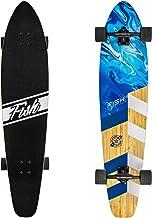 FISH SKATEBOARDS Longboard Skateboard, 44-Inch 7-Ply Artisan Bamboo and Maple Longboard, Professional Complete Skateboard ...