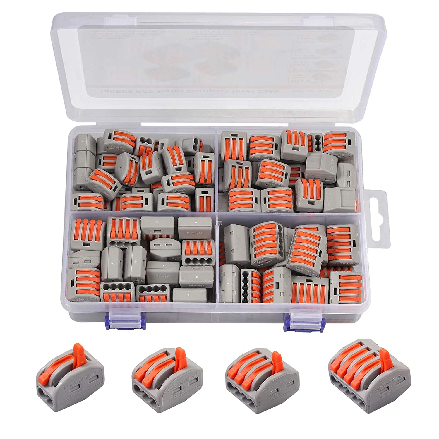 Free shipping on posting reviews CAMWAY 140pcs Lever Nut Wire Conductor Qu Connector Tulsa Mall Pack Compact