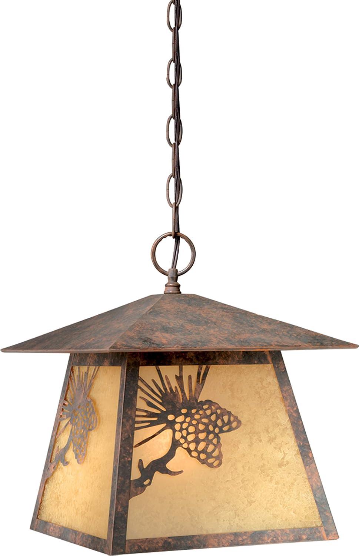 Whitebark 1 Light Bronze Inexpensive Free shipping on posting reviews Rustic Lantern Pinecone Pendant Outdoor