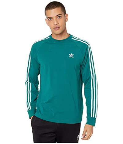 adidas Originals 3-Stripes Long Sleeve Tee (Noble Green/Vapour Green) Men