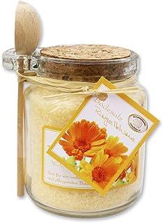 Florex Badesalz Badezusatz Ringelblume im dekorativen Glas mit Holzlöffel 300 g