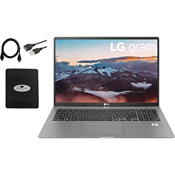 2021 LG Gram 17'' Laptop Ultra-Lightweight, IPS LCD (2560x1600), 10th Gen Intel i7-1065G7(Up to 3.9GHz), 16GB RAM, 512GB SSD, Backlite-KB, Fingerprint, WiFi 6, HDMI, Up to 17.0 hrs, w/ GM Accessories