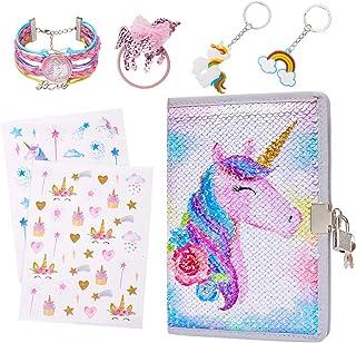 دفتر خاطرات تک شاخ خیاطی را با قفل و هدایای کلیدی ست شده با بند / برچسب / جاکلیدی / دستبند ، تک شاخ گل